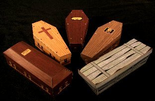 Papercraft Coffins from Ravensblight.com
