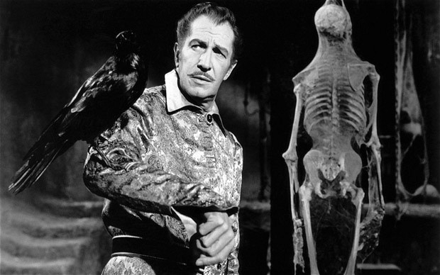 Vincent Price with Raven