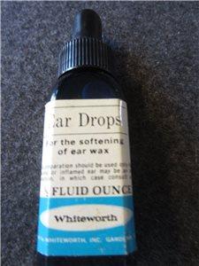 Vintage Ear Drops Bottle