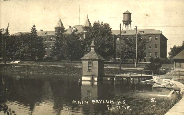 Postcard picture of Eloise Asylum, Wayne County Michigan