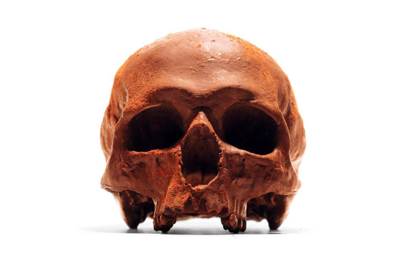 Chocolate Skull from Black Chocolate Company, Manchester England