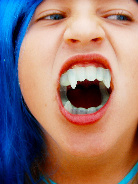 """Vampire Teeth"" Photo by flickr user Daniel Orth.(https://flic.kr/p/5wV2DY) Used under the Creative Commons License. No changes were made."