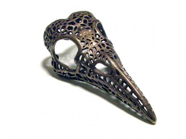 Sheila Munro (Dropping Form Design) Filligree Raven Skull available through Shapeways.com