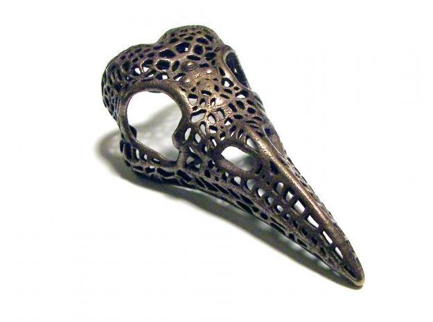 Sheila Munro (Dropping Form Design) Filligree Raven Skull available through Shapeways.com