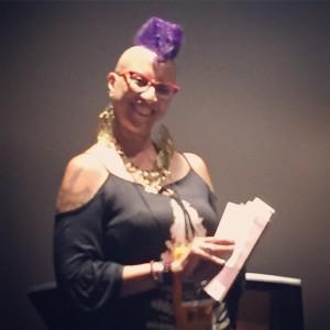 Linda Addison reading poetry
